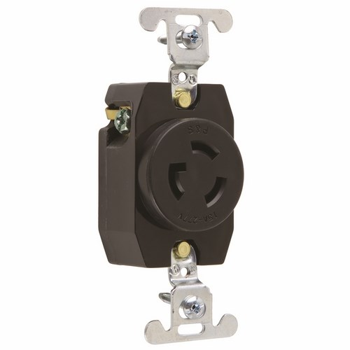 P&S 4760 TURNLOK SINGLE RECEPTACLE 3-WAY 15A 277V