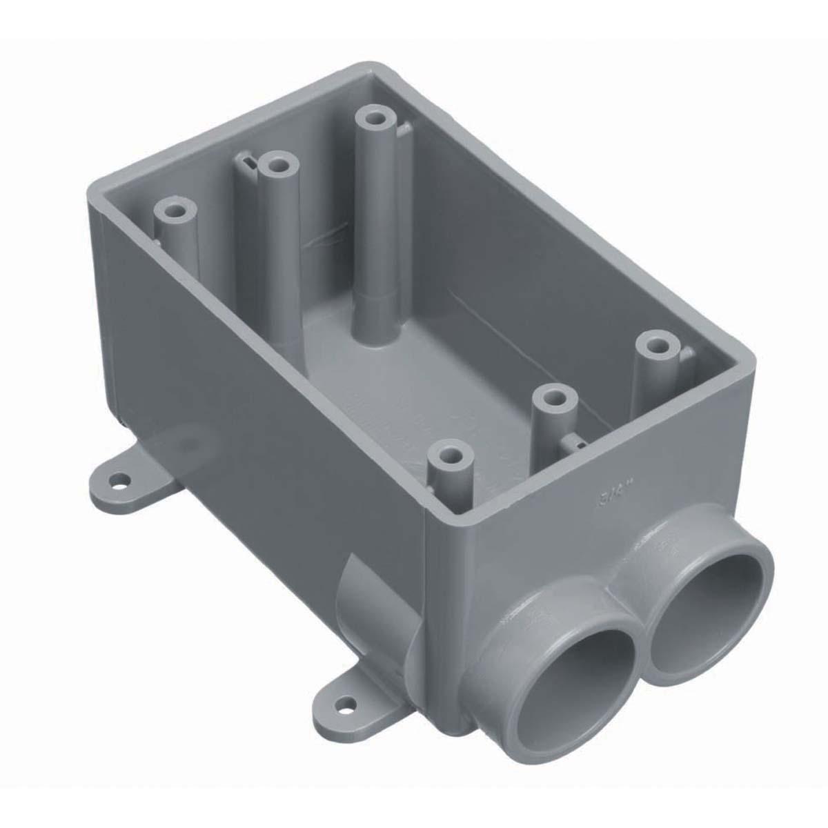 CARLON E982DFNL-4 SGL GANG FSC BOX18CU 1/2IN PVC 4PK