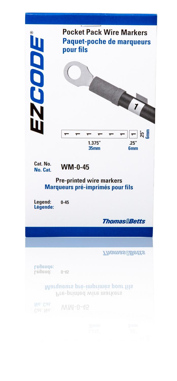 T&B WM-0-45 WRE MARKER BK-3X5 VINYL CLOTH L0-45-10EA