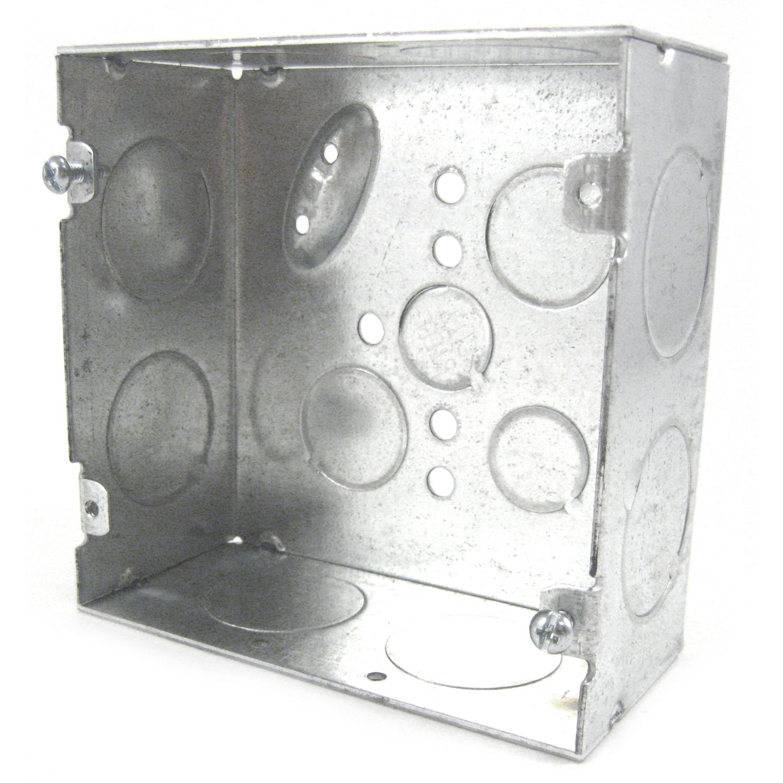 STEELCTY 72171-1 4-11/16-IN SQUARE BOX, STEEL, 42CU, 1/2, 3/4E&1-K