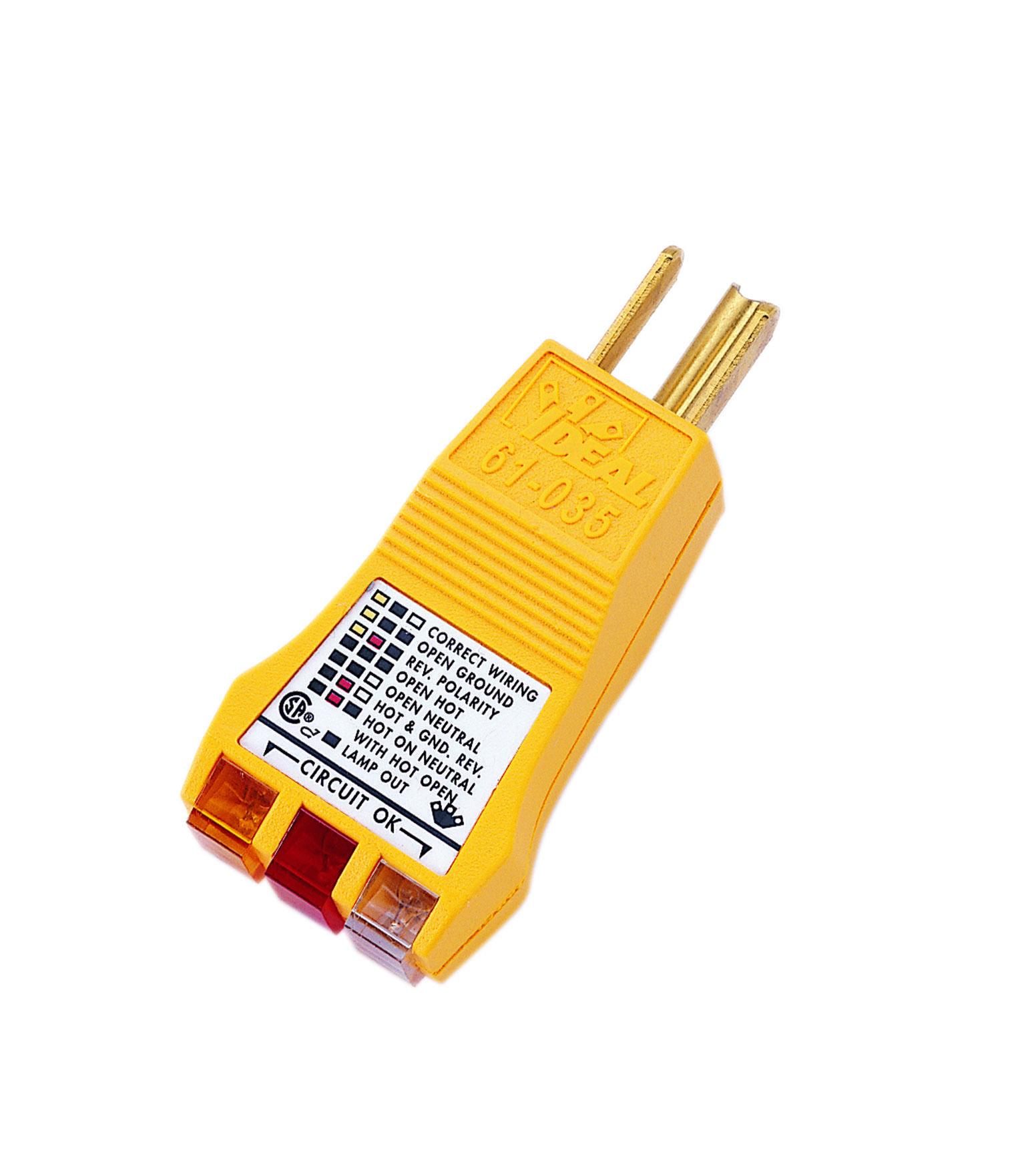 IDEAL 61-035 E-Z Check Circuit Tester